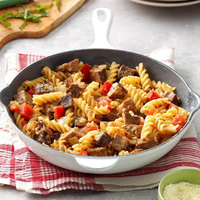 Make: Roast Beef Pasta Skillet