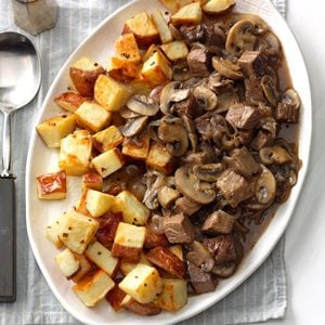 Roast Beef with Chive Roasted Potatoes