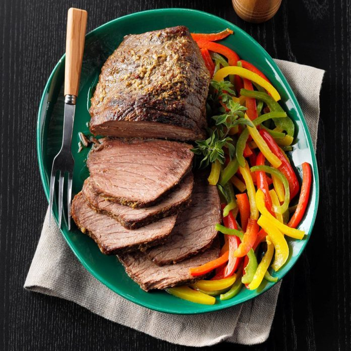 Roast Beef with Peppers