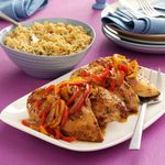 Roast Chicken Breasts with Peppers