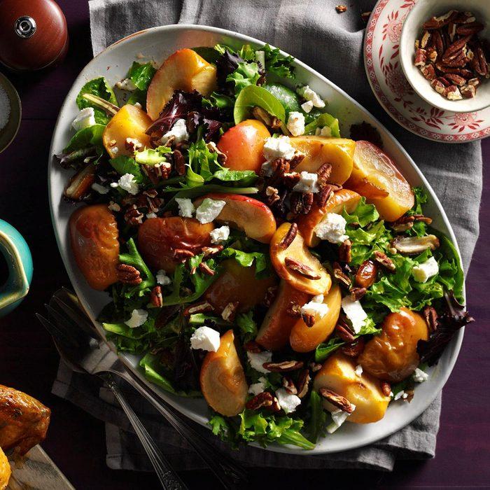 Roasted Apple Salad With Spicy Maple Cider Vinaigrette Exps Mcmz16 177878 B07 12 1b