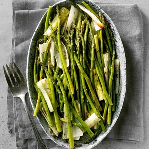 Roasted Asparagus and Leeks