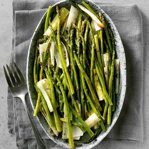Roasted Asparagus and Leeks