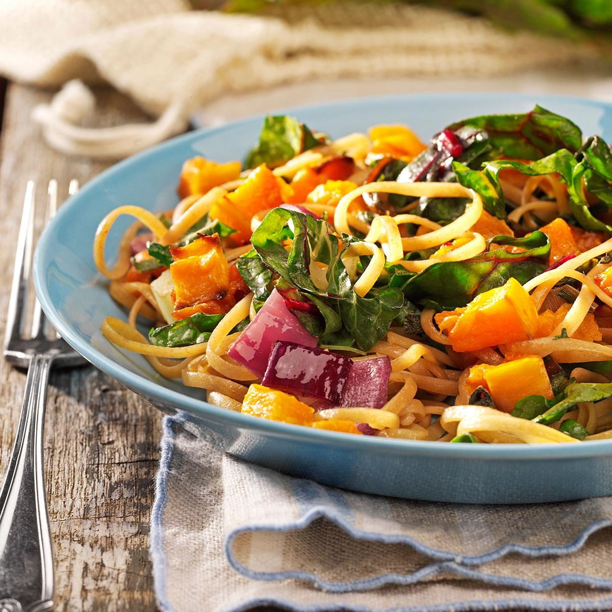 Saturday: Roasted Butternut Linguine for Two