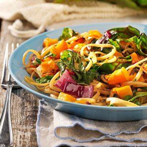 Roasted Butternut Linguine for Two