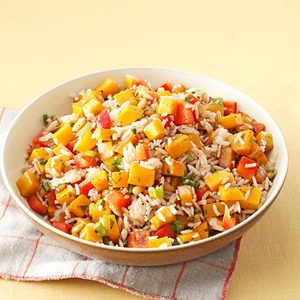 Roasted Butternut Squash & Rice Salad