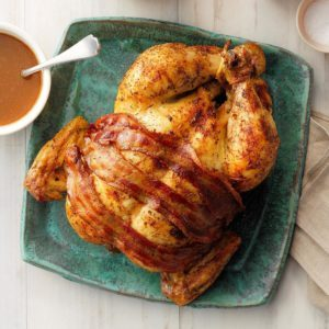 Roasted Chicken with Brown Gravy