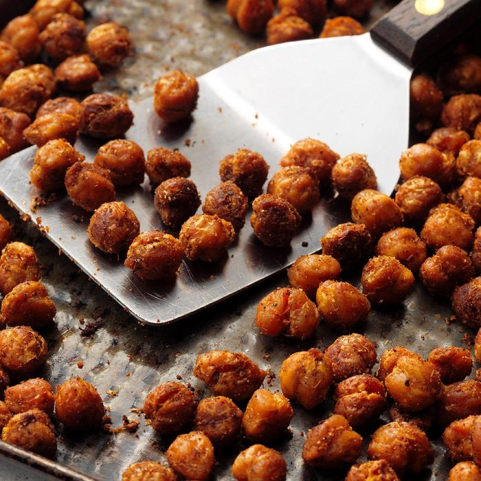 Roasted Curry Chickpeas