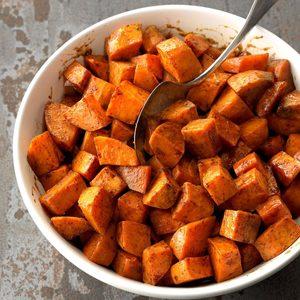 Roasted Honey Sweet Potatoes