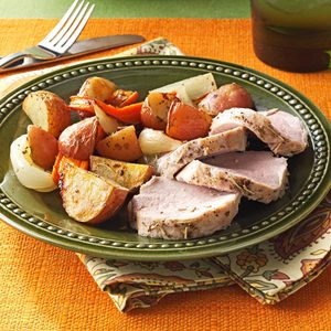 Roasted Pork Tenderloin and Vegetables
