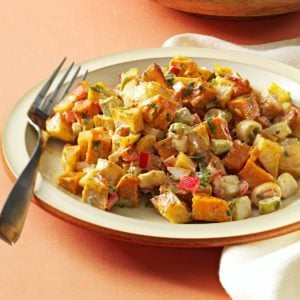 Roasted Sweet and Gold Potato Salad
