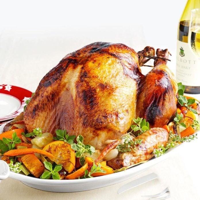 Rhode Island: Roasted Turkey a l'Orange