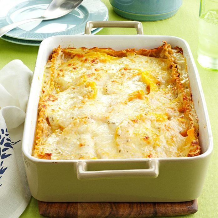 Fall: Rosemary Butternut Squash Lasagna