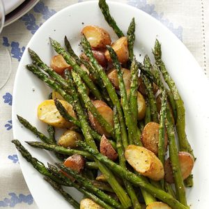 Rosemary Roasted Potatoes and Asparagus