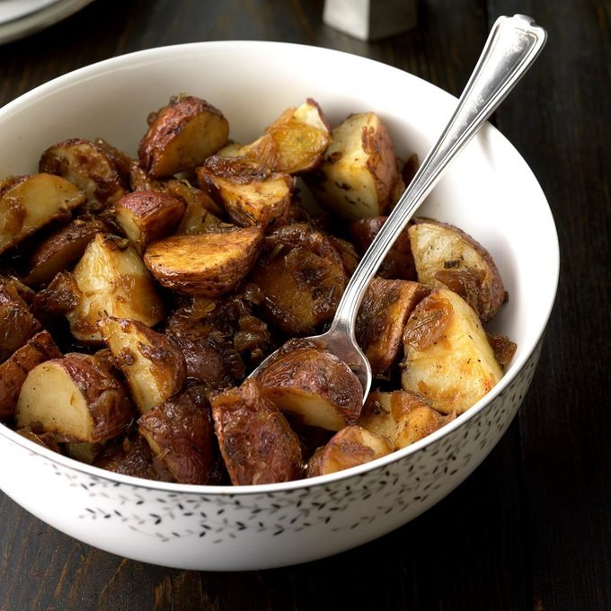 Rosemary Potatoes with Caramelized Onions