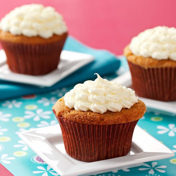 Rosy Rhubarb Cupcakes
