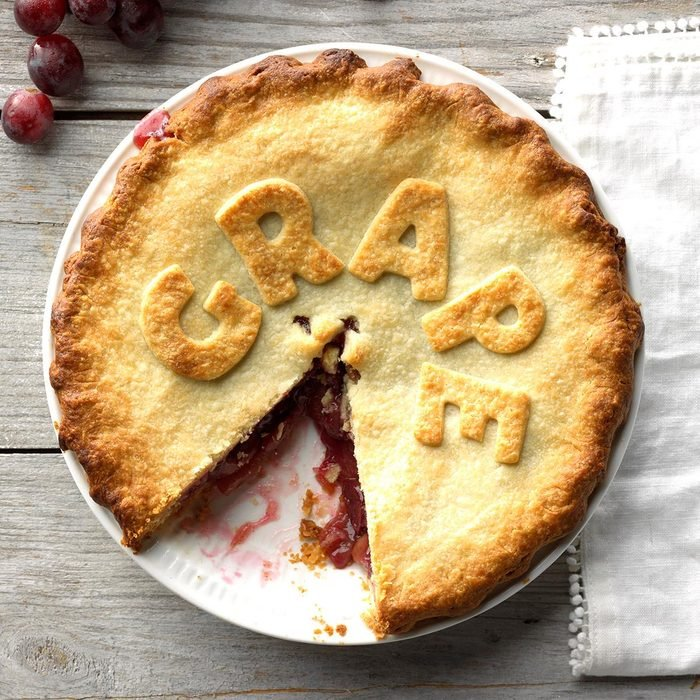 Ruby Grape Pie