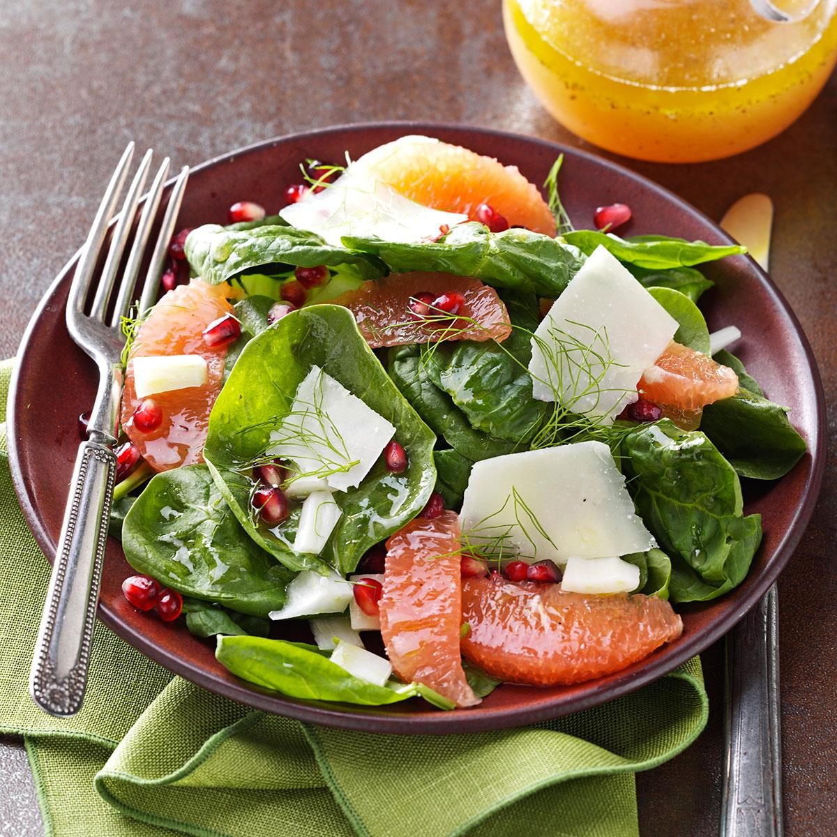 Ruby Red Spinach Salads