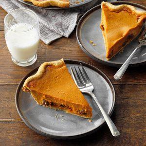 Rum-Raisin Pumpkin Pie