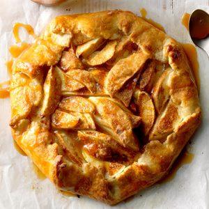 Rustic Caramel Apple Tart