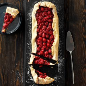 Rustic Chocolate Raspberry Tart
