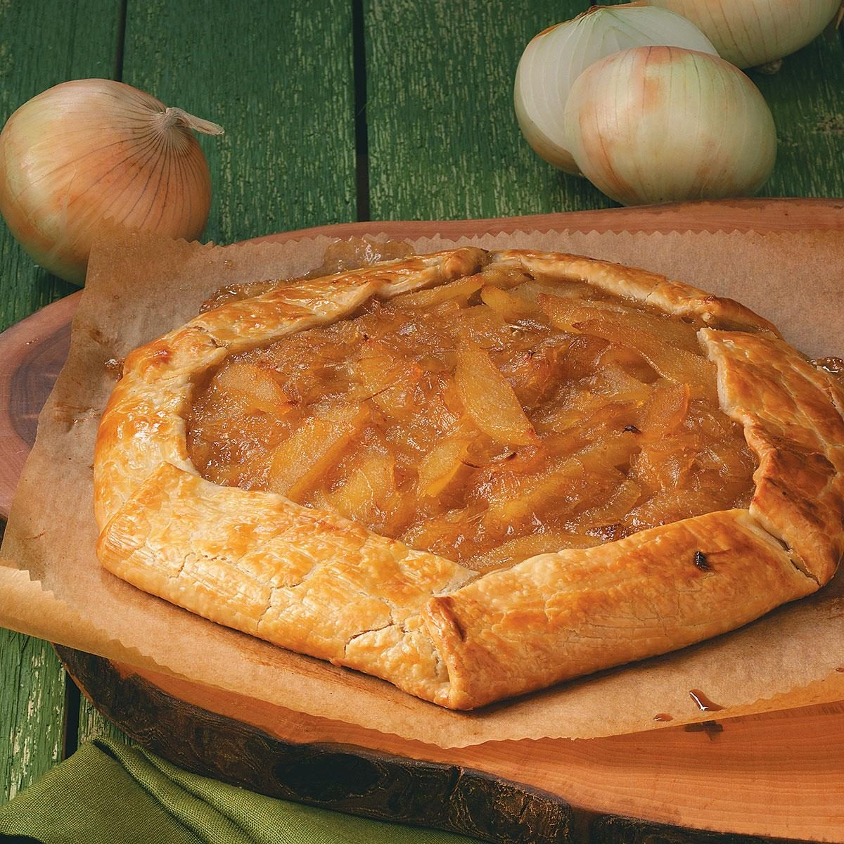 Rustic Fig, Onion & Pear Tart