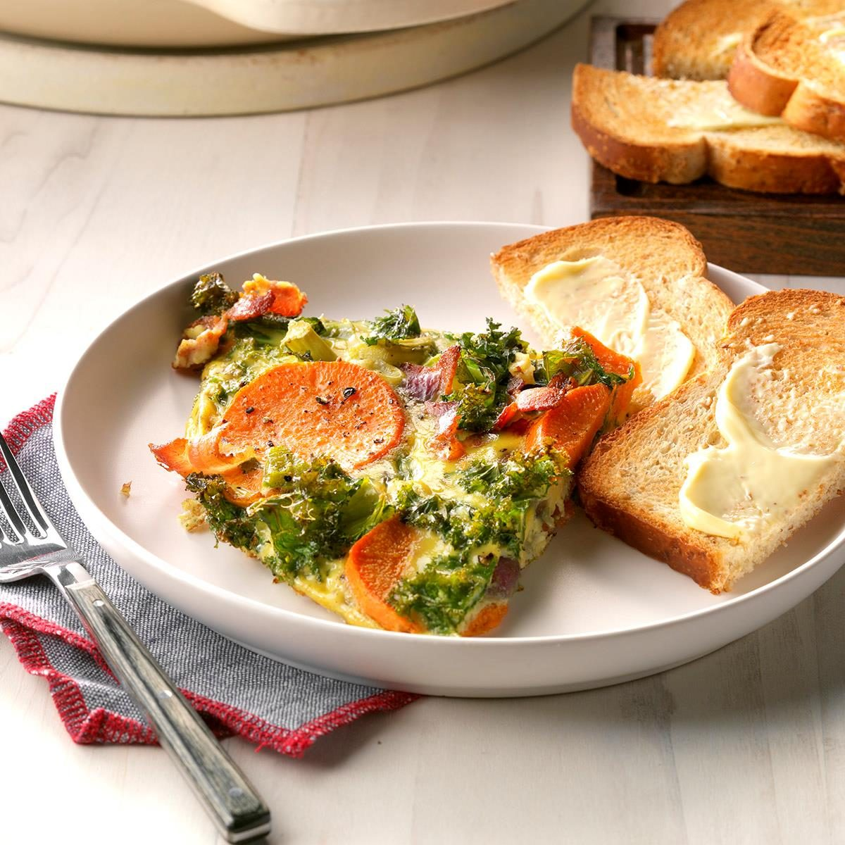 Rustic Vegetable Frittata Recipe How To Make It Taste Of Home