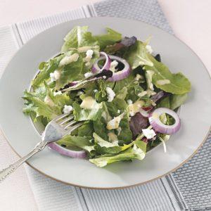 Salad Greens with Honey Mustard Dressing