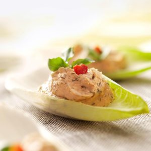 Salmon Mousse Endive Leaves