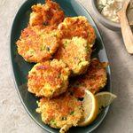 Salmon Patties with Lemon-Dill Sauce