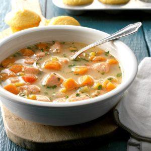 Salmon Sweet Potato Soup