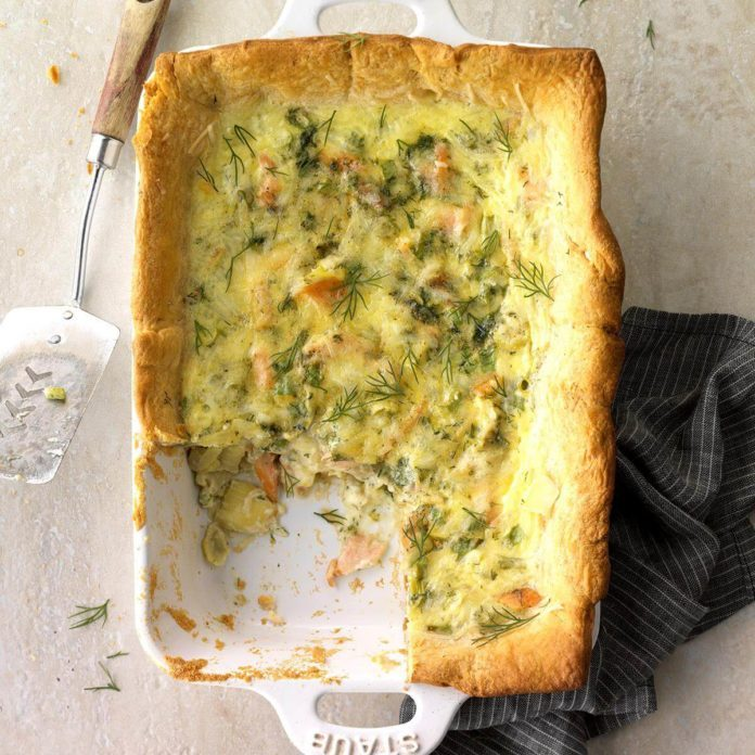 Runner Up: Salmon and Artichoke Quiche Squares
