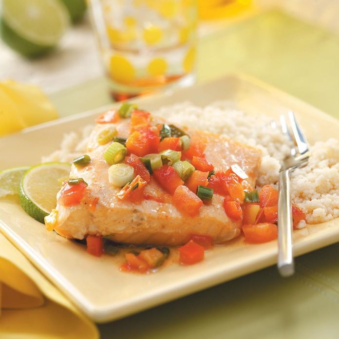 Salmon in Lime Sauce