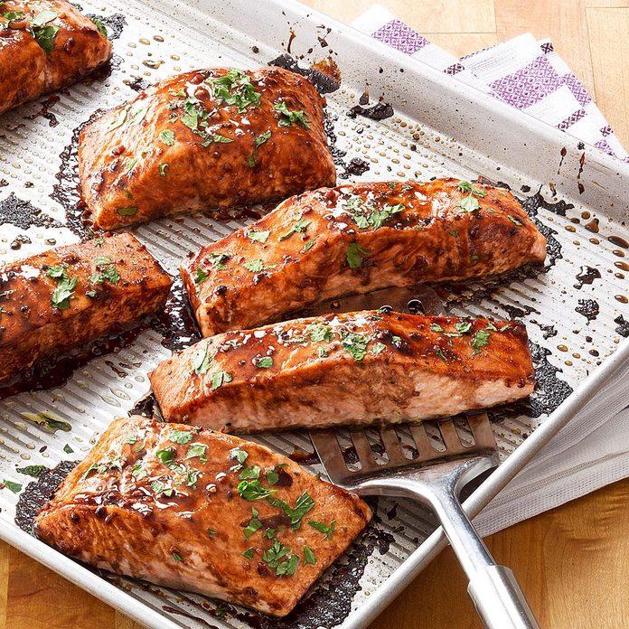 Salmon with Balsamic-Honey Glaze
