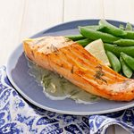 Salmon with Lemon-Dill Butter