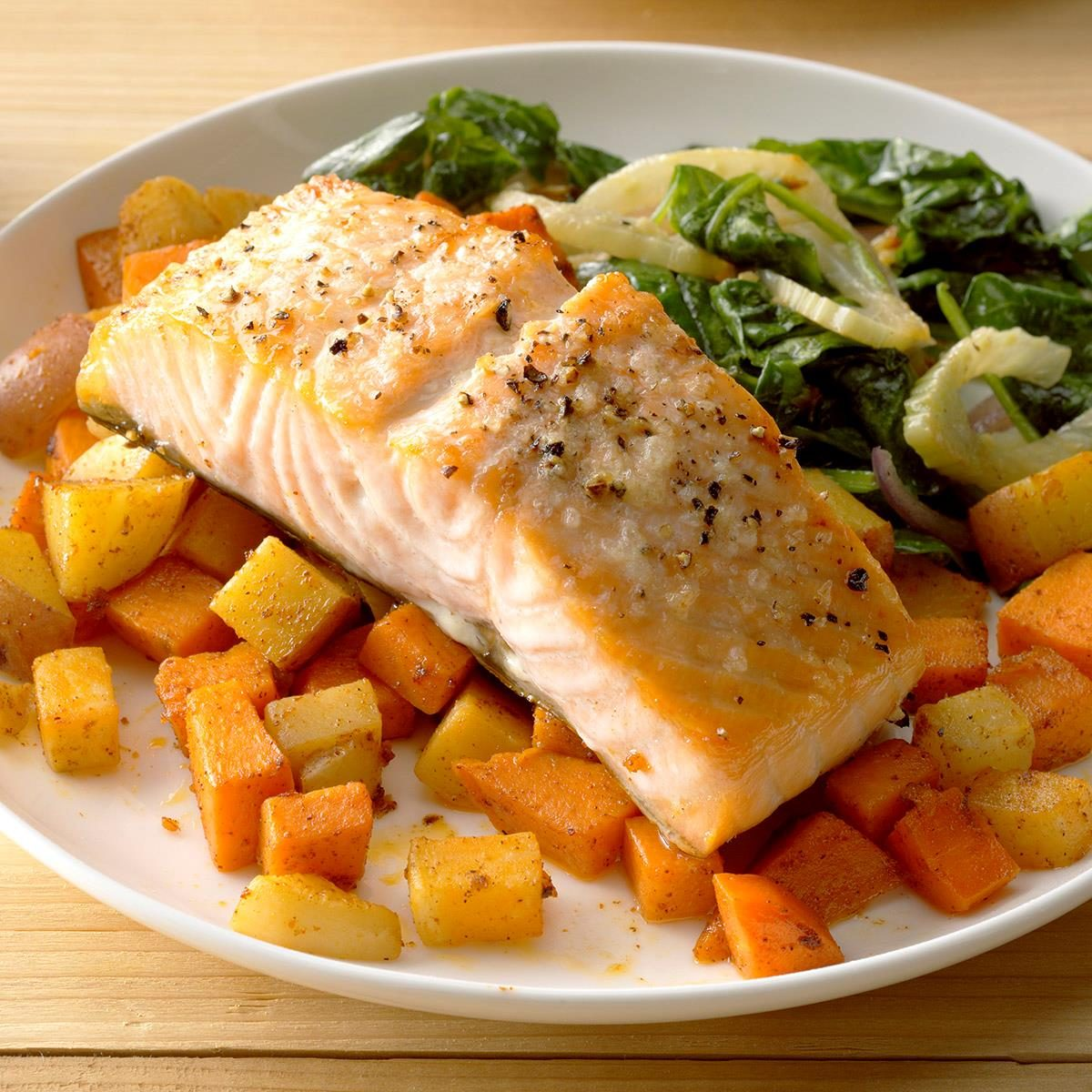 Salmon with Root Vegetables