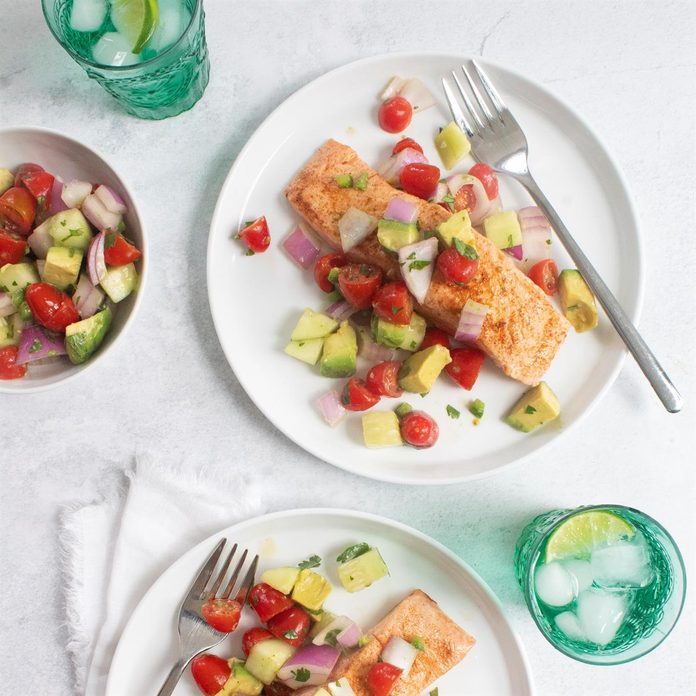 Salmon with Vegetable Salsa