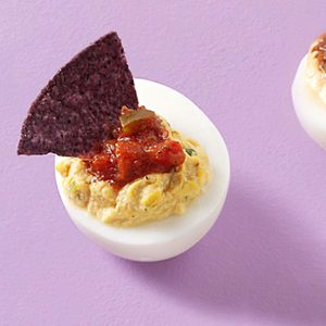 Salsa Dipper Deviled Eggs