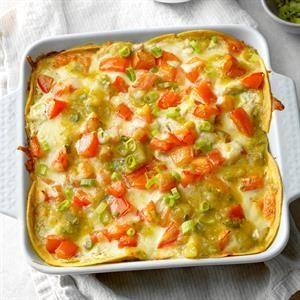 Salsa Verde Chicken Casserole