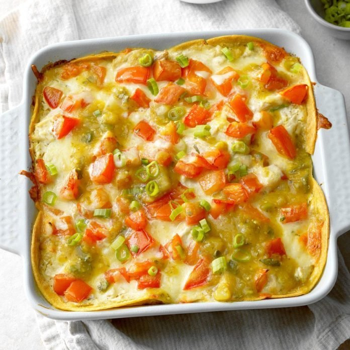 Day 19: Salsa Verde Chicken Casserole
