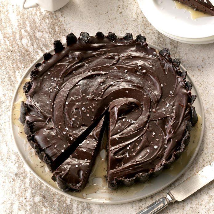 Salted Dark Chocolate Tart