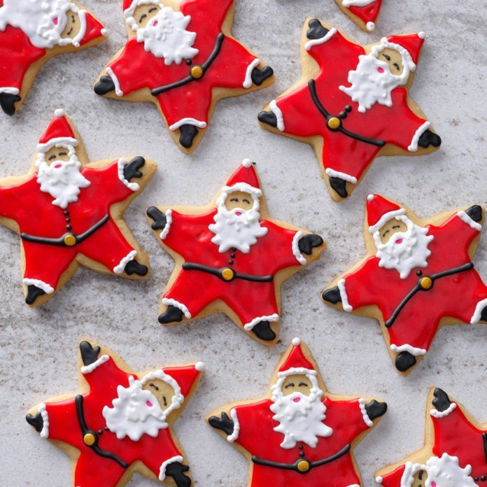Santas Made With a Star Cutter