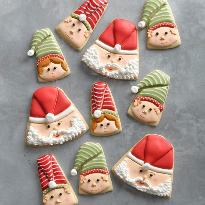Santa and Elf Christmas Cookies