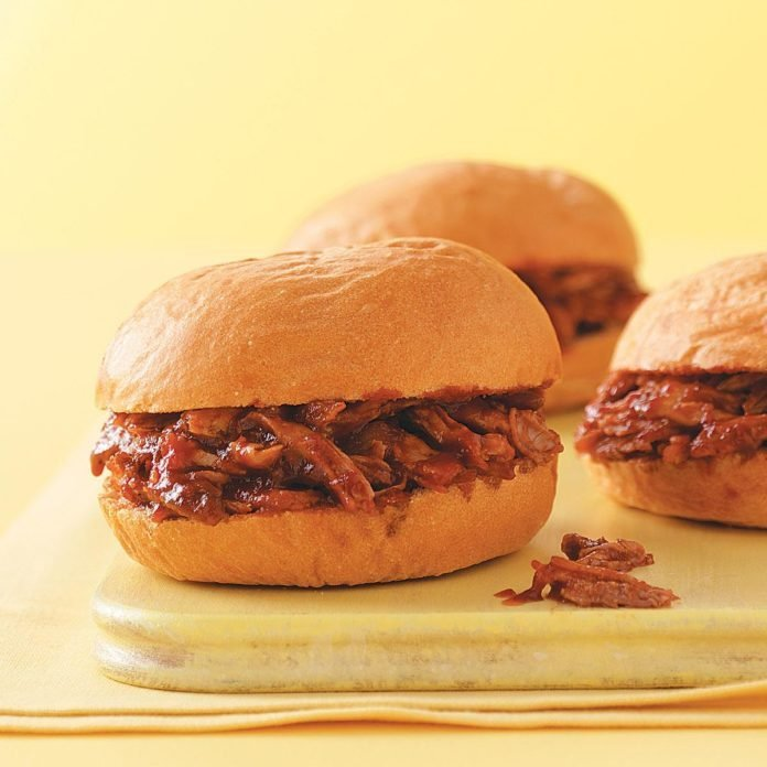 Saucy Barbecued Pork Sandwiches