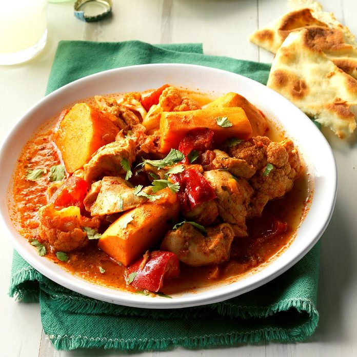 Saucy Indian-Style Chicken & Vegetables