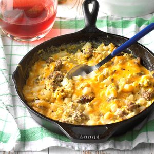 Sausage, Egg and Cheddar Farmer's Breakfast