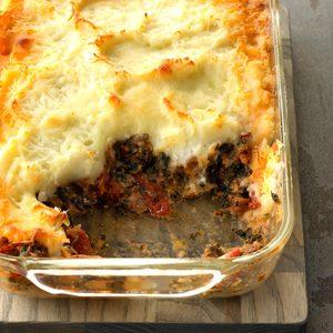 Sausage Florentine Shepherd's Pie