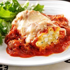 Sausage Lasagna Rolls
