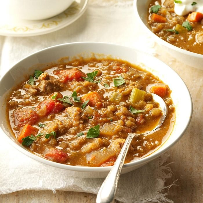 Day 27: Turkey Sausage and Lentil Soup