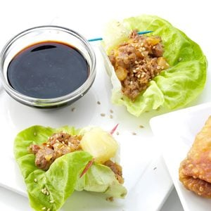 Sausage Pineapple Lettuce Wraps